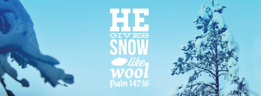 Christian Quote Facebook Cover Winter