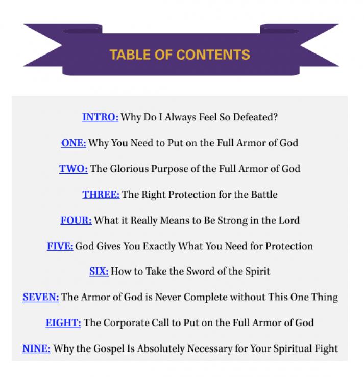 Spiritual Warfare eBook - Table of Contents