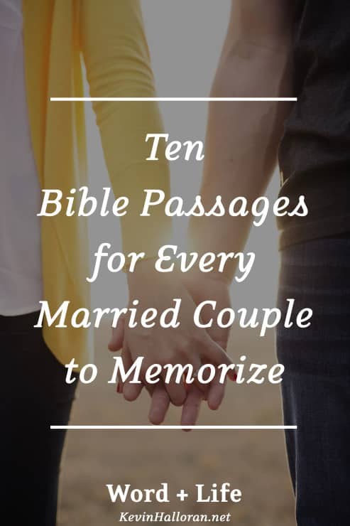 10 Bible Verses/Passages for Married Couples to Memorize ...