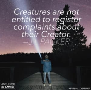 J I Packer quote Creature and Creator